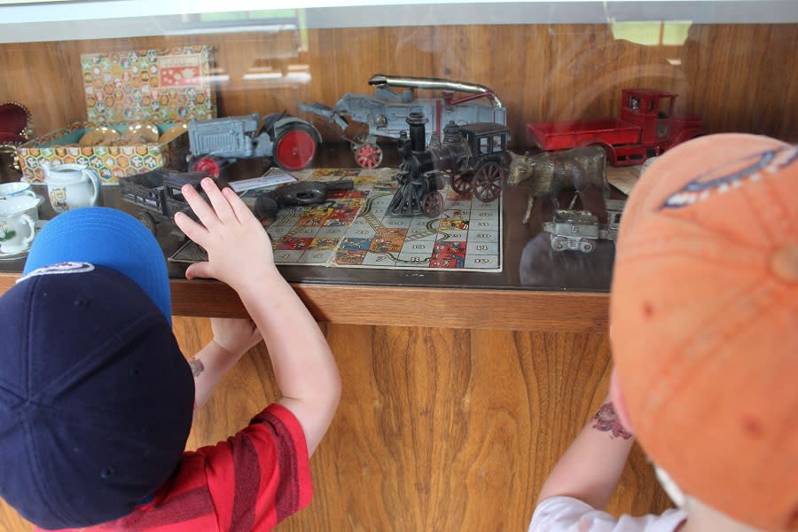 Antique games and toys in Octagon Building at Minnedosa Heritage Village