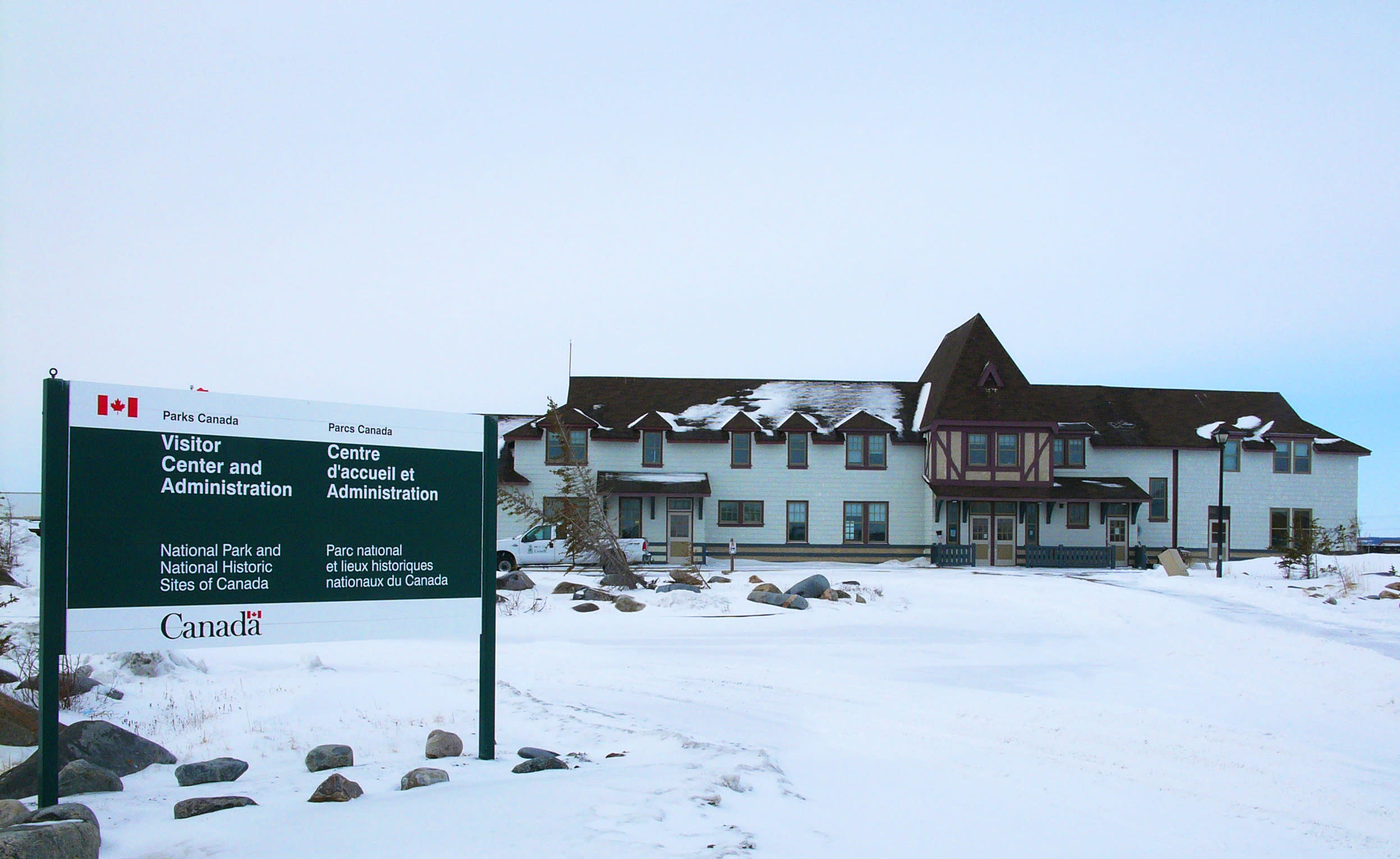 Parks Canada Visitor Centre in the town of Churchill Manitoba