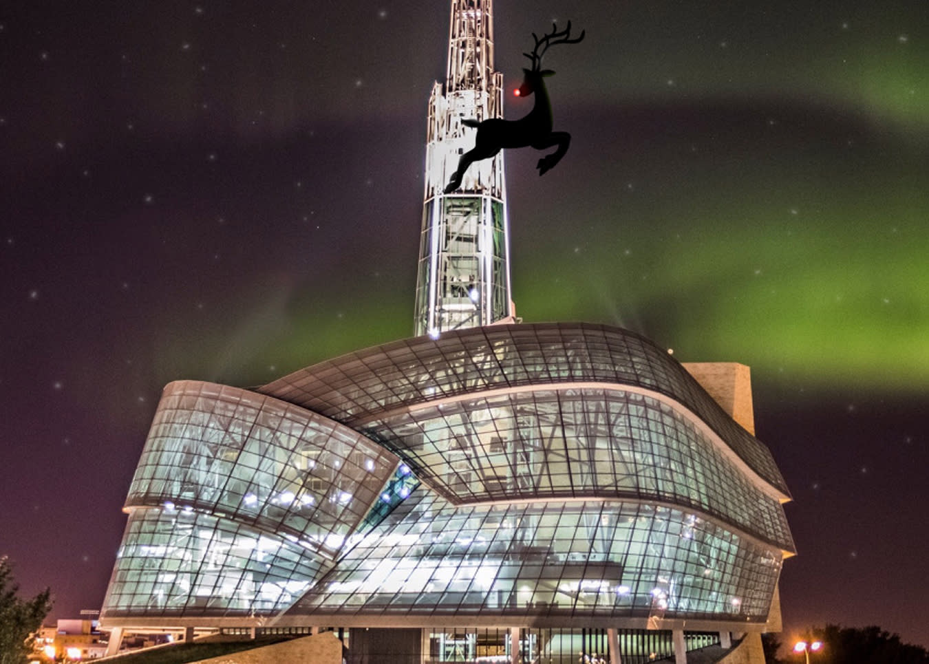 Rudolph at Canadian Museum for Human Rights, Manitoba