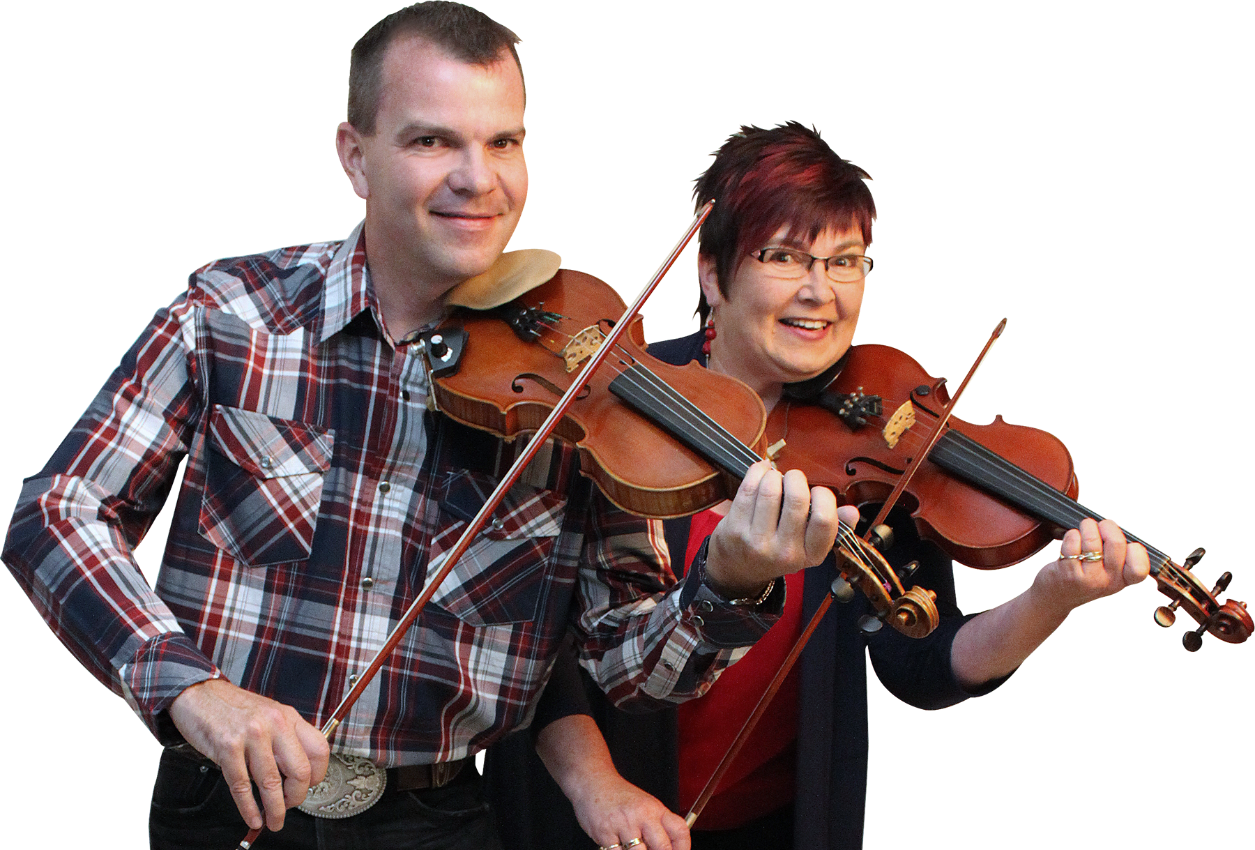 Twin Fiddle performers Scott Woods and Kendra Norris. Scott Woods