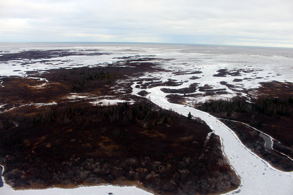 Aerial view of Northern Manitoba