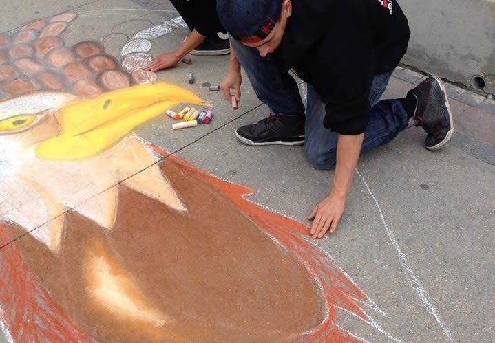 Artists diplay their talents at Art Challenge at Manito Ahbee in Winnipeg, Manitoba