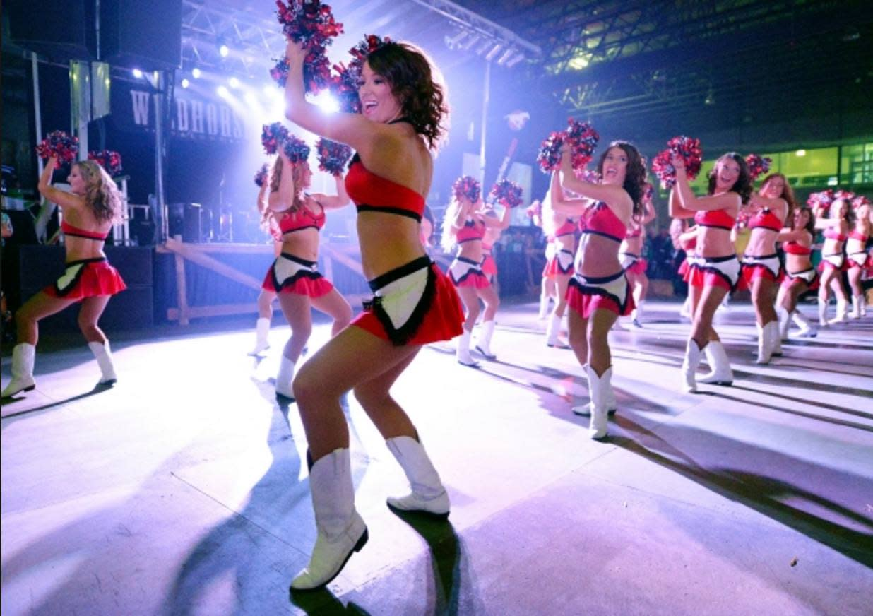 Cheer Extravaganza at 103rd Grey Cup Festival in Winnipeg, Manitoba