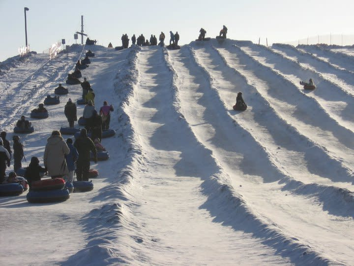 Snow tubing at Adrenaline Adventures