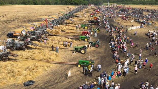 Antique threshing machines set a world record at the Manitoba Agriculatural Museum in Austin