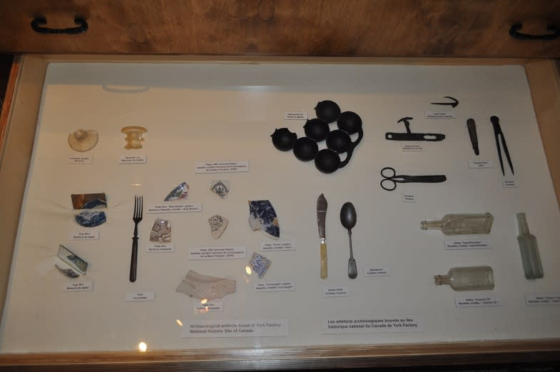 Artifacts on display at the Parks Canada Visitor Information Centre in Churchill