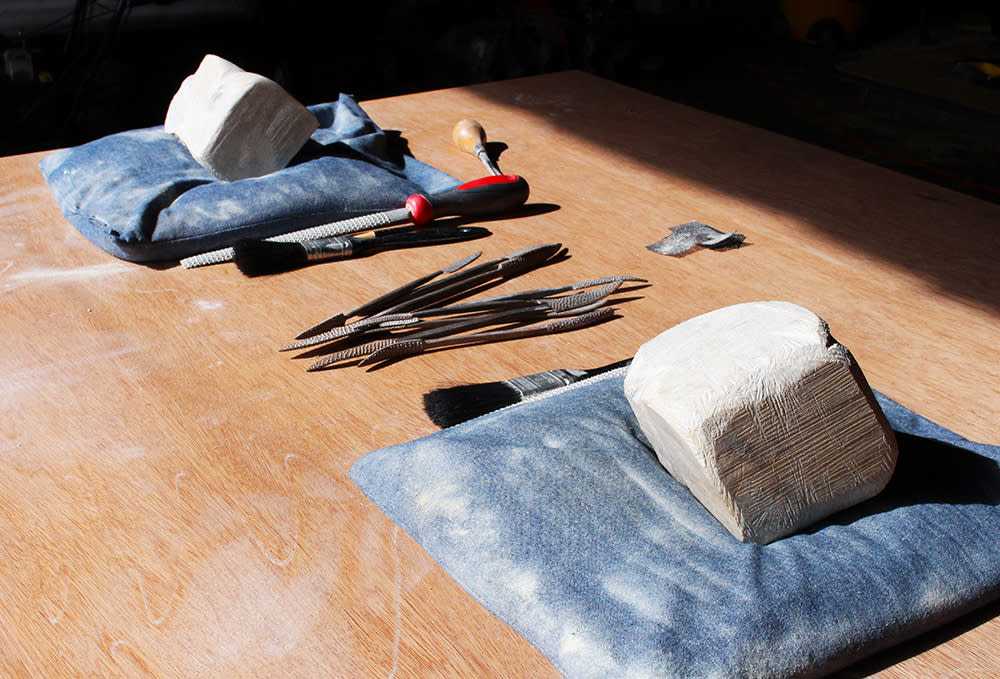Soapstone Carving at Journey Home Artist Retreat