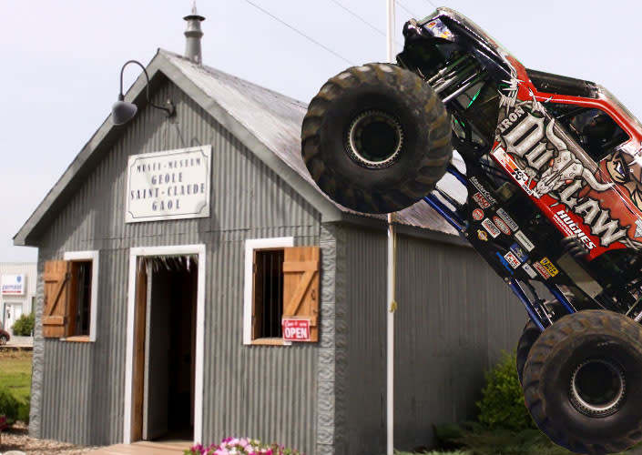 Monster Truck Iron Outlaw goes to the St. Claude Gaol Museum