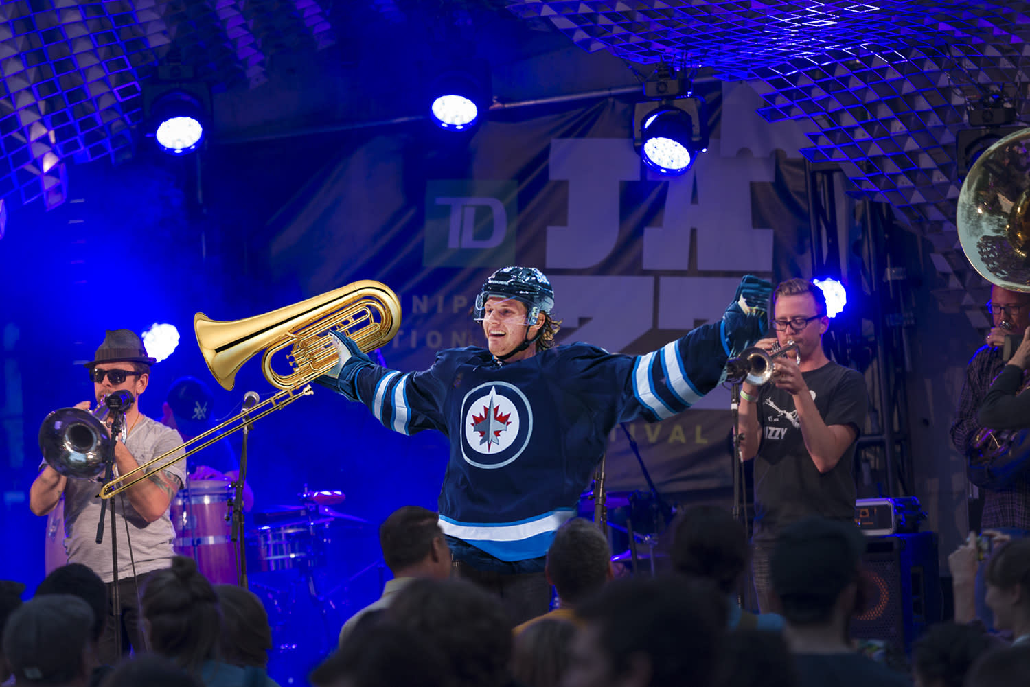 Jacob Trouba as a performer at the Jazz Festival