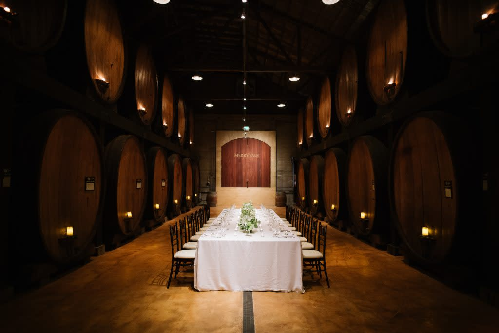 Merryvale Cask Room Event Space Napa Valley