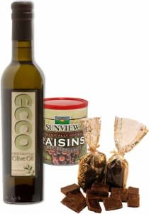 Napa Valley Gift Guide - Rutherford Ranch Olive Oil, Raisons and Chocolates