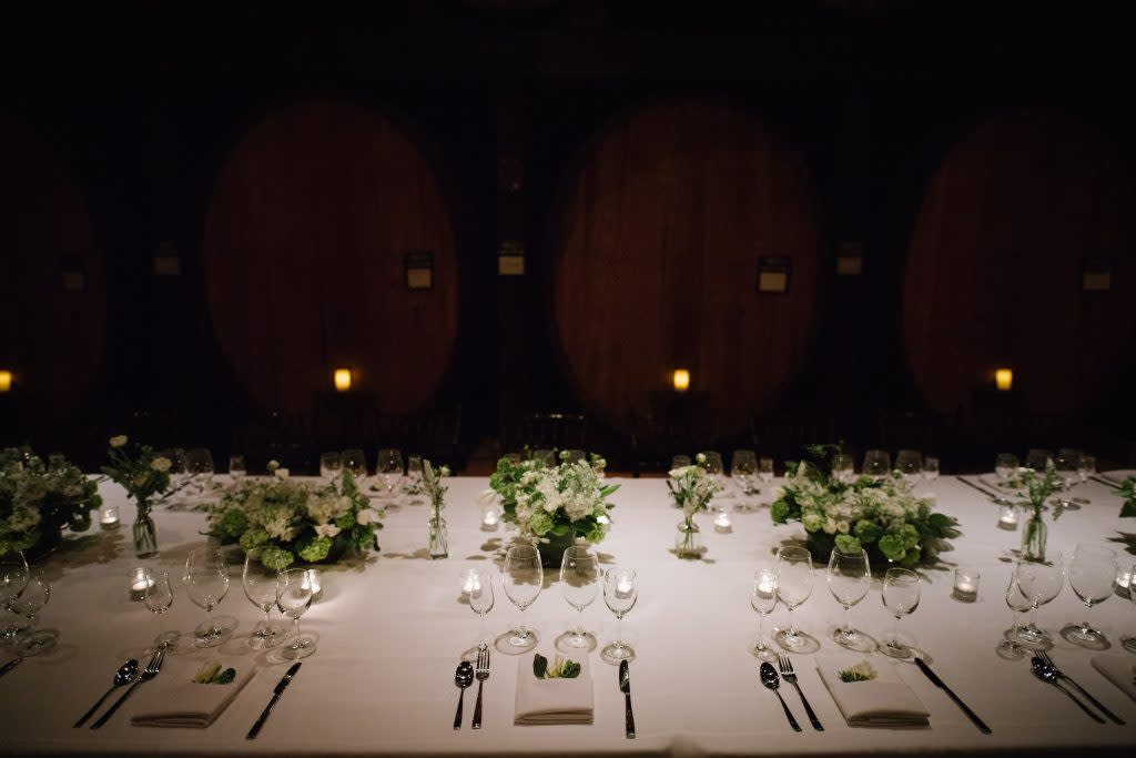 Table is set in the Merryvale Cask Room