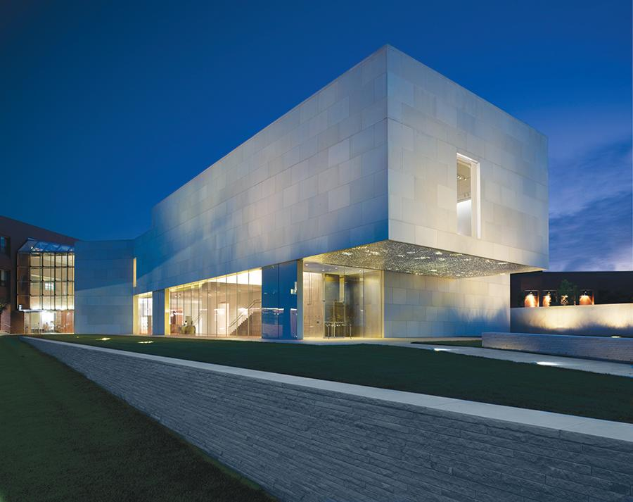 Nerman Museum of Contemporary Art at Night - new site revised