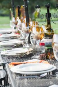 Somerset Wine Trail - Table Set for Dinner