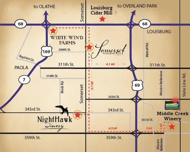 Somerset Wine Trail Map