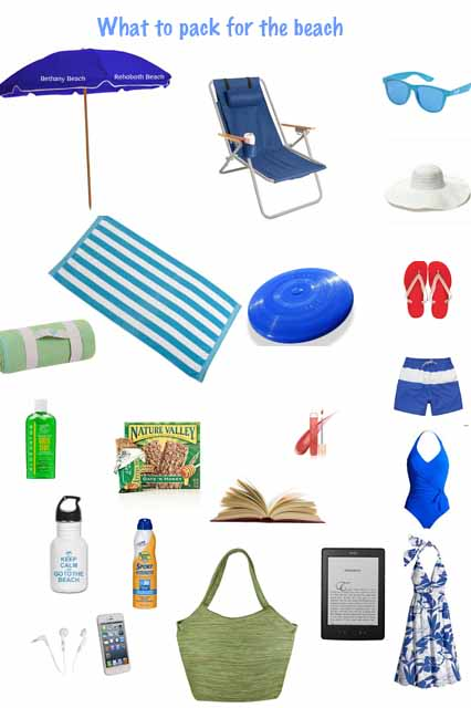What to pack for the beach in Delaware