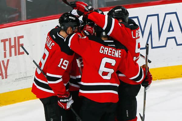 Devils Hockey Team in Newark