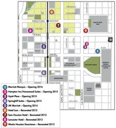 New Downtown Hotel Map Small