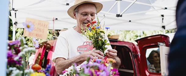 Boulder Farmers Market Flowers