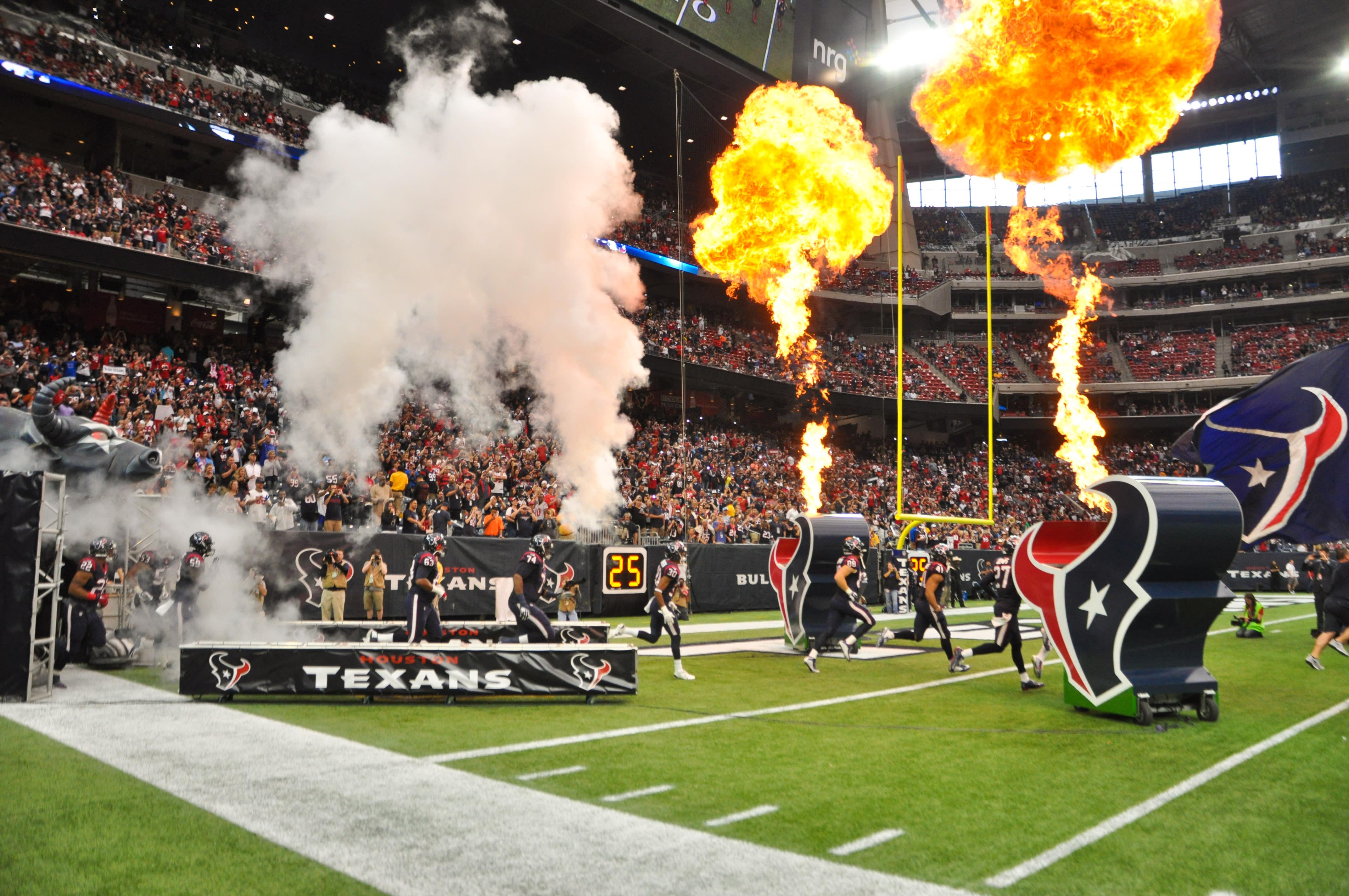 Houston Texans Coming Onto Field