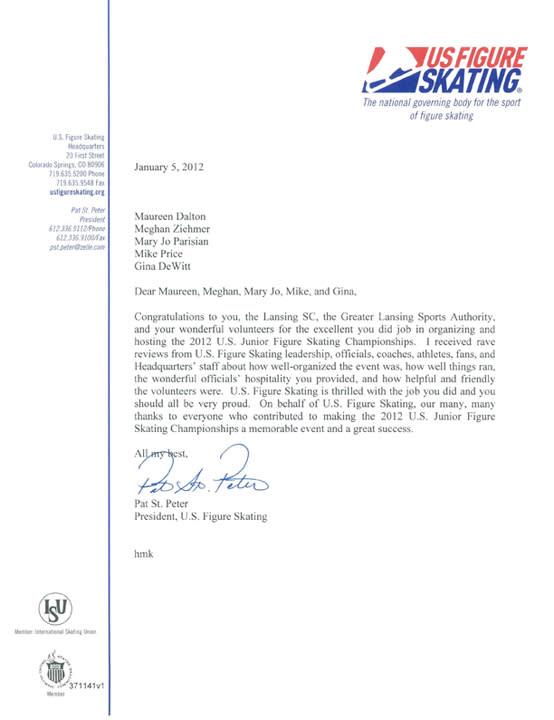 US Figure Skating Letter