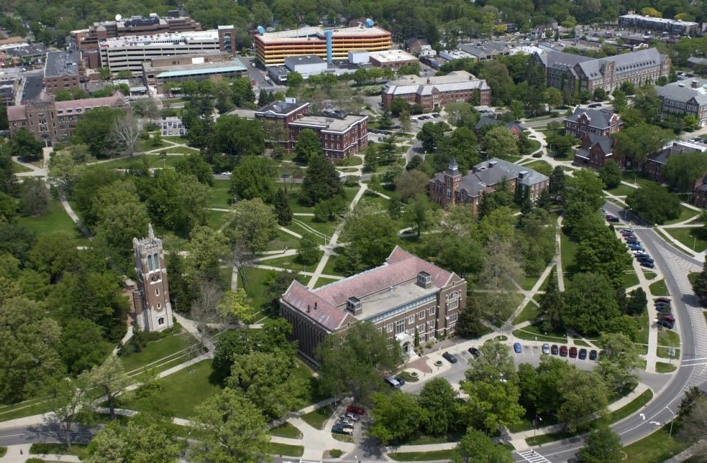 Michigan State University Aerial Map of East Lansing