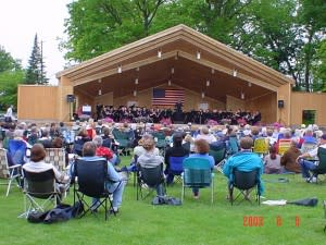 The Lake Lansing Band Shell is a great way to spend a summer evening in Greater Lansing.