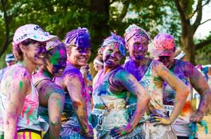 This run is a celebration of life, punctuated by bold, bright and downright messy color.