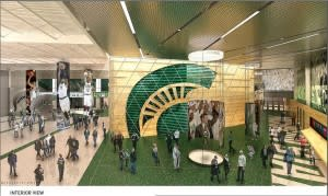 Among the new changes to the Breslin Center will be an impressive entry area featuring an MSU Basketball Hal of Fame.