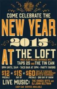 Taps The Loft NYE