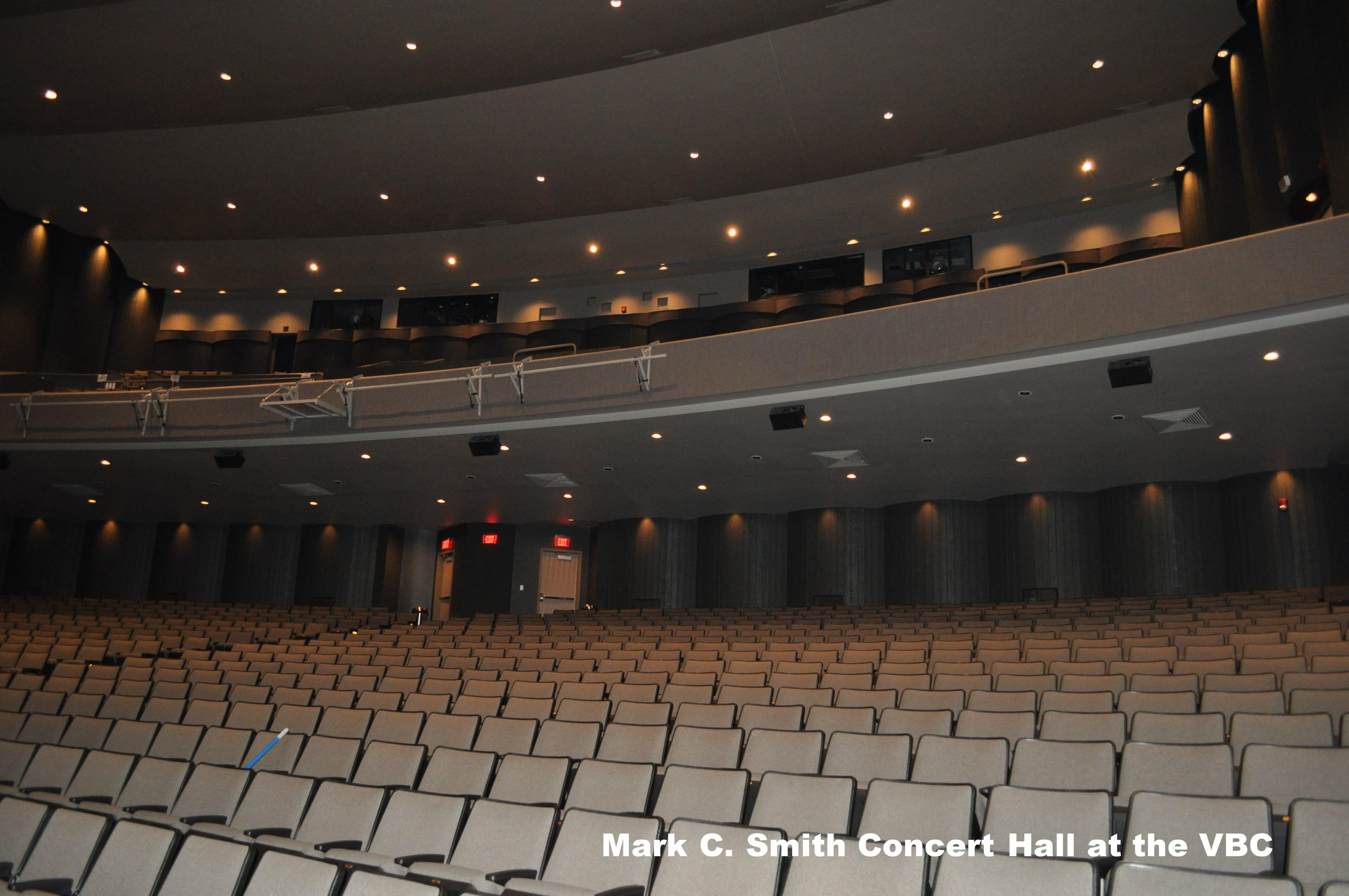 Mark C. Smith Concert Hall at the VBC