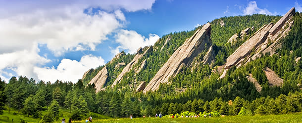 Flatirons in Summer