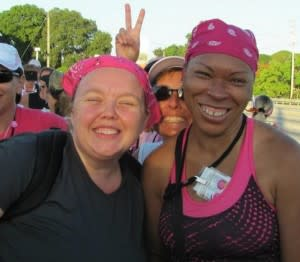 Miles of training on Fort Wayne Trails lead to some very big smiles at the end of the Komen 3 Day