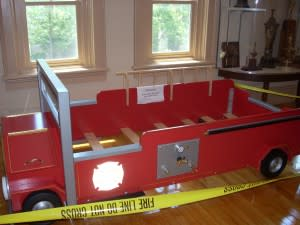 Child's bed to be raffled as a fundraiser in fall 2013.