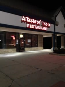 Taste of India restaurant  front