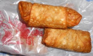 Egg rolls from the Double Dragon restaurant