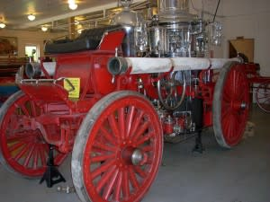 This steamer truck is on display at Firefighter Museum.