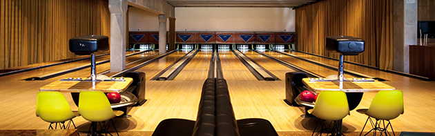 Image of the interior of Dust Bowl (a retro bowling alley) in the Midtown District of Oklahoma City.