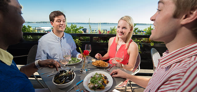 Outdoor Dining at the Sardine Restaurant