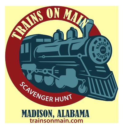 Trains on Main Scavenger Hunt logo