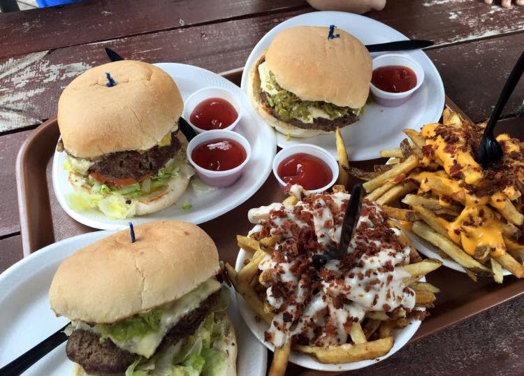 Burgers from Hubcap Grill