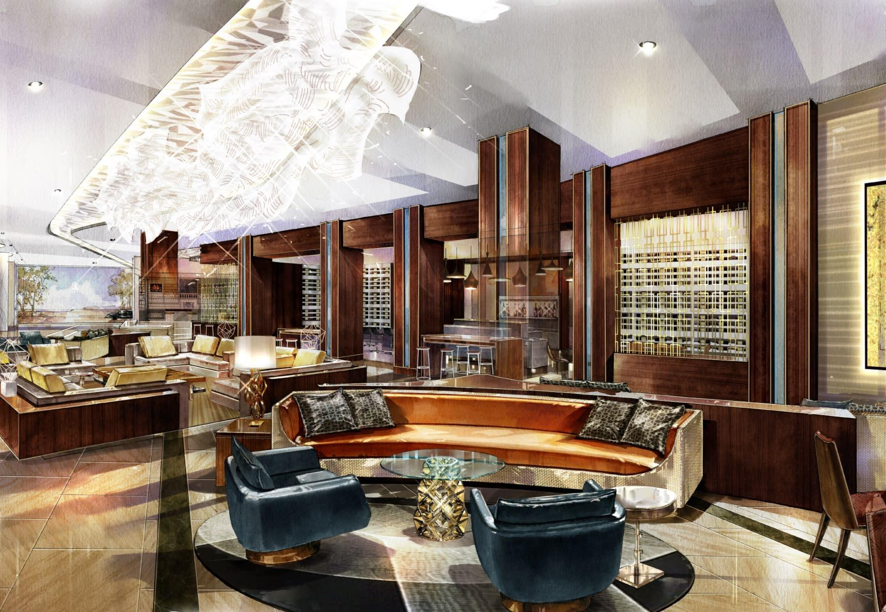 Marriott Marquis Houston lobby
