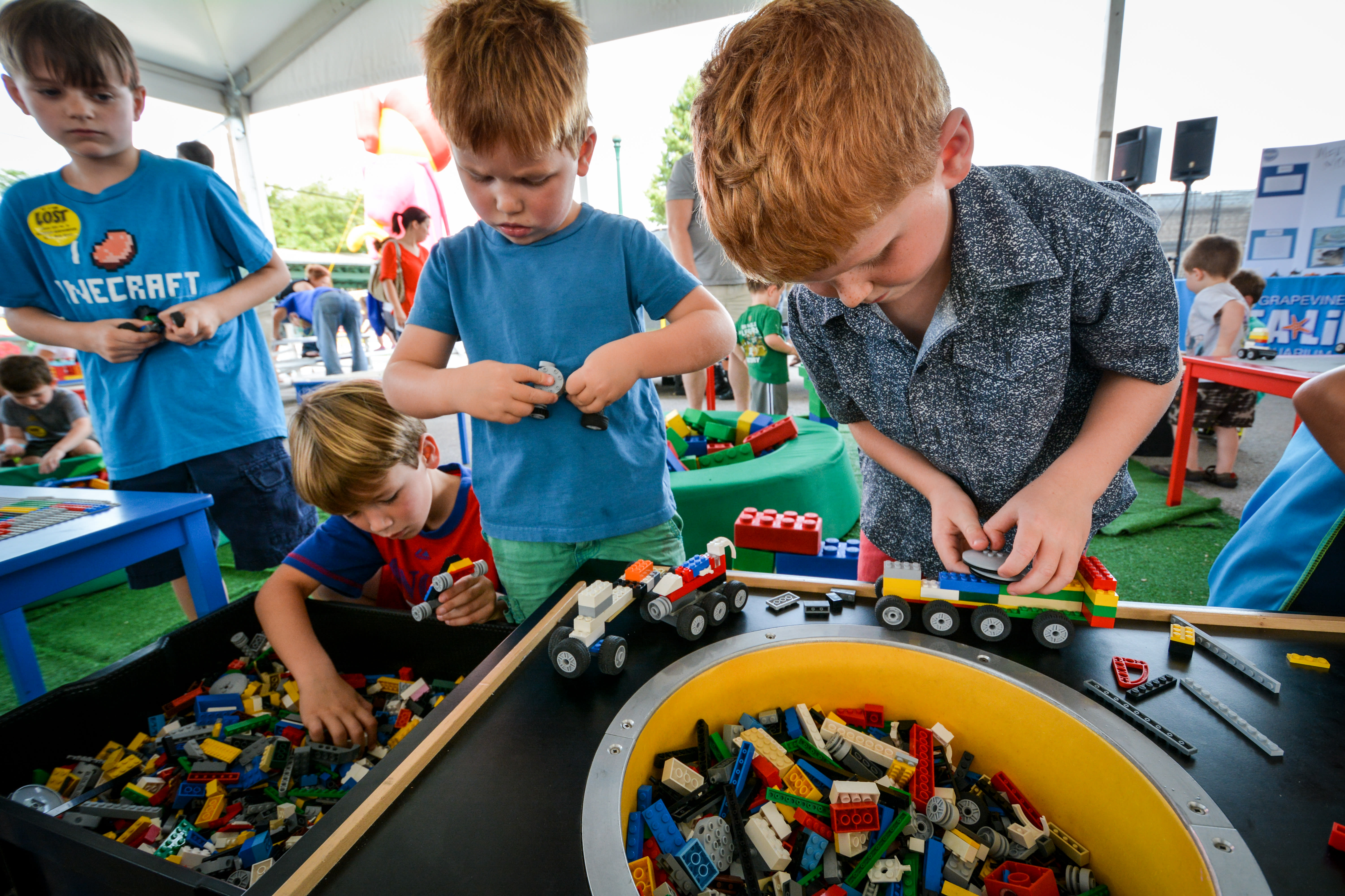 Kids Played with Legos at KidsWorld