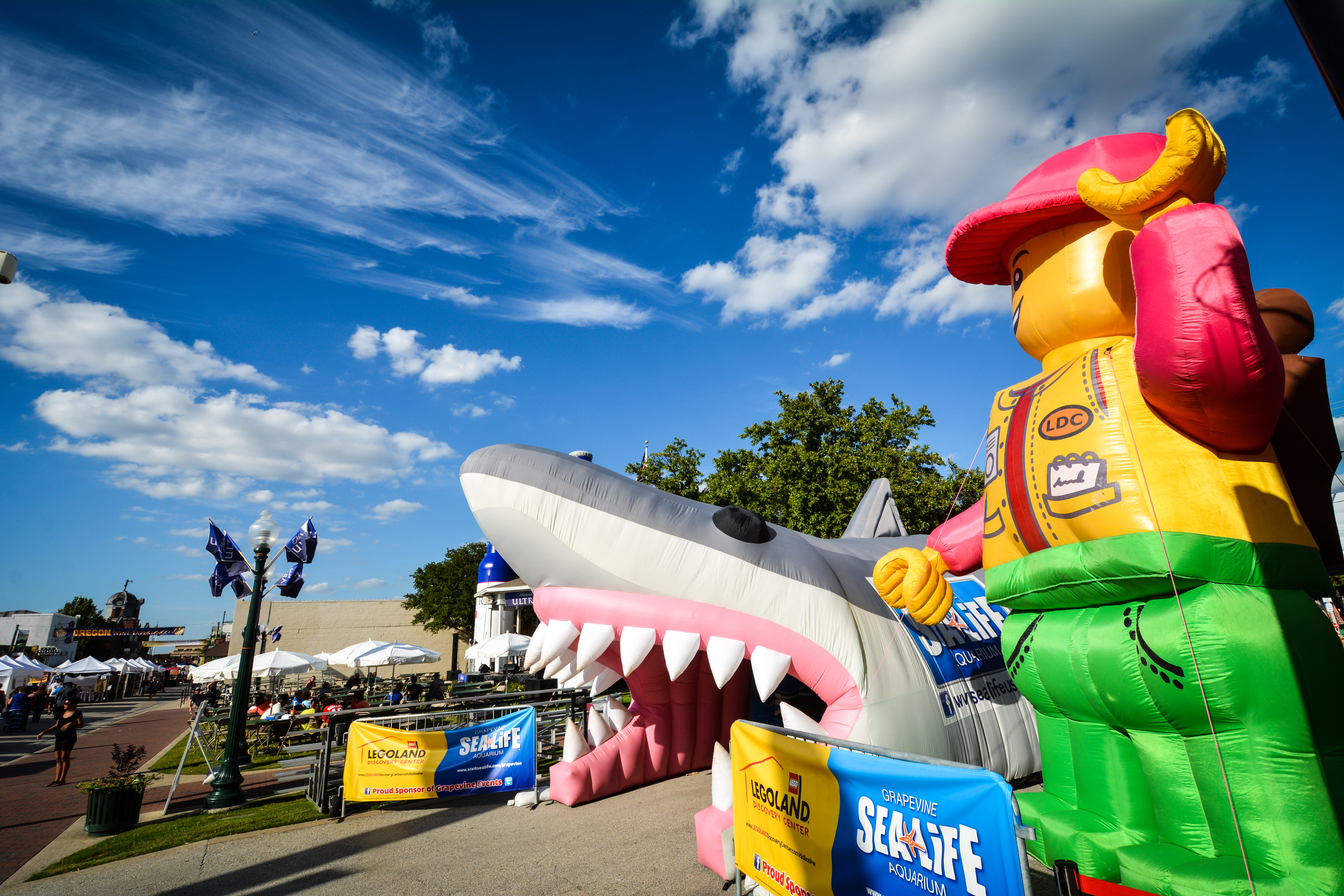 These Giant Inflatables Welcomed Guests to GrapeFest