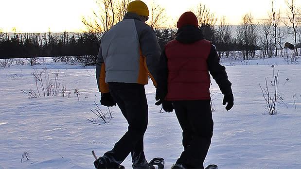 Snowshoeing- Adirondacks near Saranac Lake - Photo by NYS ESD