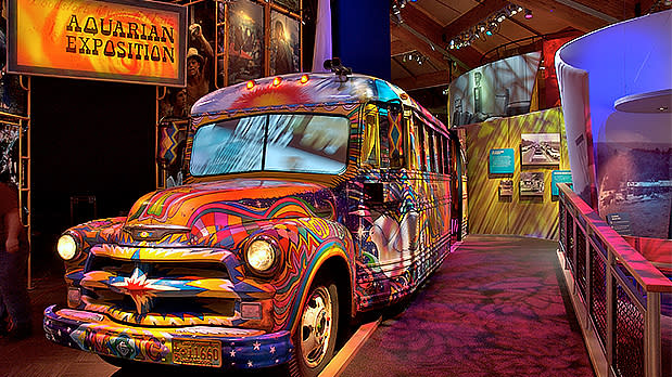 Museum at Bethel Woods Interior Bus - Photo by NYS ESD