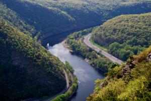 The Appalachian Trail at Delaware Water Gap