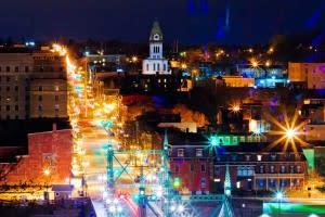 City of Easton Pennsylvania at Night
