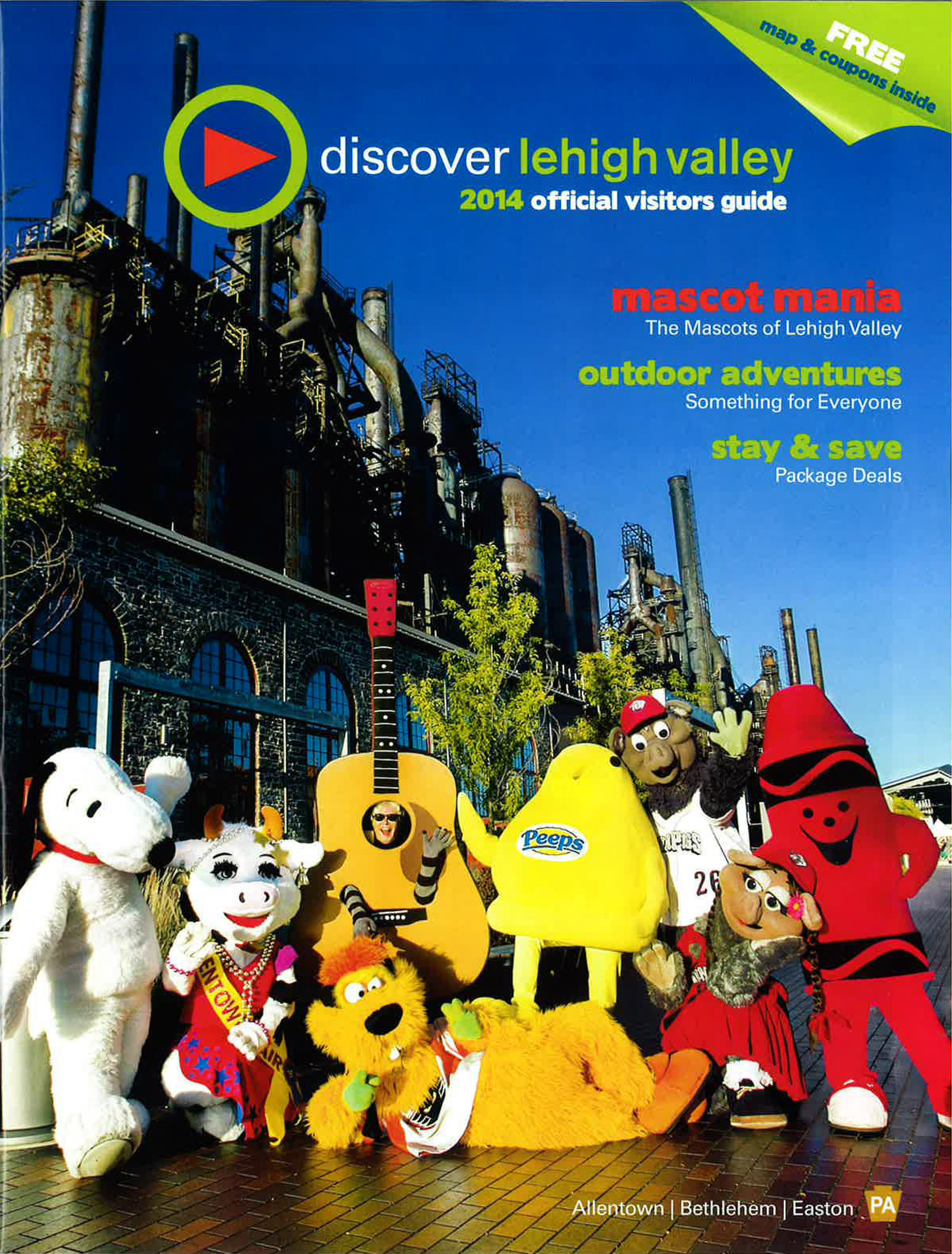 2014 Lehigh Valley Official Visitors Guide Cover