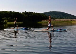 Give Stand Up Paddle Board Yoga a Try